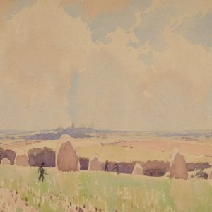 "A.C. Leighton ""Distant Horizon"" Watercolour, N.D."