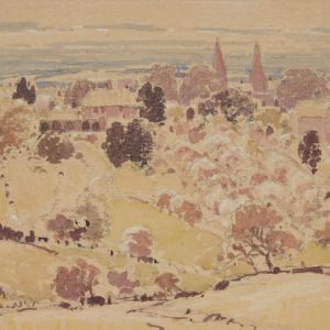 "A.C. Leighton ""From the Hill, Kent"" Watercolour, N.D."