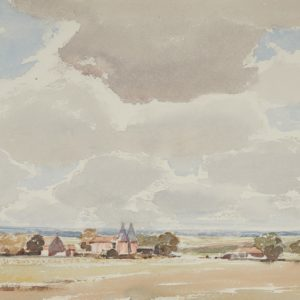 "A.C. Leighton ""Hop Oasts-Sussex"" Watercolour, N.D."