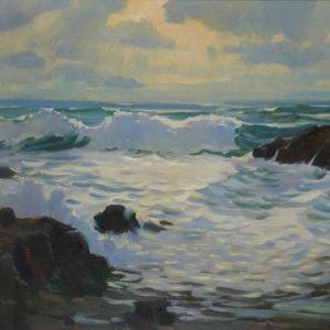 "A.C. Leighton ""Oregon Coast"" Oil, N.D."