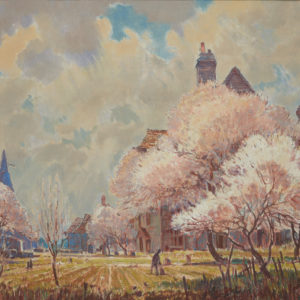 """A.C. Leighton """"Spring Time in Kent"""" Oil, N.D."""