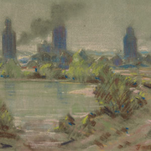 """A.C. Leighton """"Untitled"""" Pastel, N.D."""