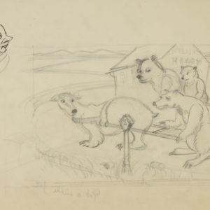"A.C. Leighton ""Untitled"" Pencil, N.D."