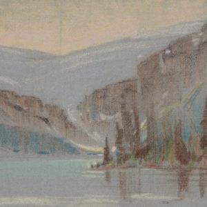 "A.C. Leighton ""Bow Lake"" Pastel, N.D."