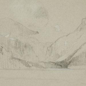 """A.C. Leighton """"Bow Lake"""" Pencil, N.D."""