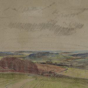 """A.C. Leighton """"Elevators in Foothills"""" Pastel, N.D."""