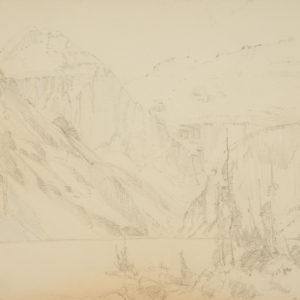 """A.C. Leighton """"Lake Louise"""" Pencil, N.D."""