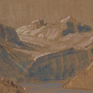 """A.C. Leighton """"Lake Louise Sketch"""" Pastel, N.D."""