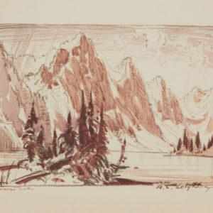 """A.C. Leighton """"Moraine Lake"""" Conte, N.D."""