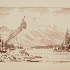 """A.C. Leighton """"Mount Rundle"""" Conte, N.D."""
