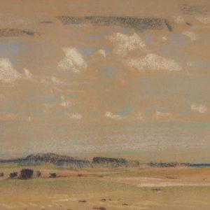 """A.C. Leighton """"Sask. Sketch"""" Pastel, N.D."""