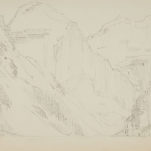 """A.C Leighton """"Valley of the Giants"""" Pencil, N.D."""