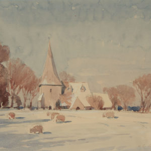 "A.C. Leighton ""Berkeley Church, Sussex"" Watercolour, N.D."
