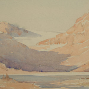 "A.C. Leighton ""Bow Lake"" Watercolour, N.D."