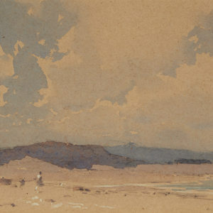 "A.C. Leighton ""Camber Sands, Near Rye, Sussex"" Watercolour, N.D."