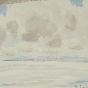 "A.C. Leighton ""Clouds"" Watercolour, N.D."