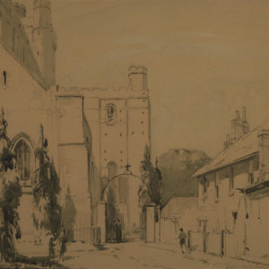 "A.C. Leighton ""Dartmouth Castle"" Watercolour, N.D."