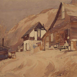 "A.C. Leighton ""Early Calgary"" Watercolour, N.D."