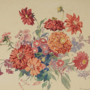 "A.C. Leighton ""Floral Arrangement"" Watercolour, N.D."