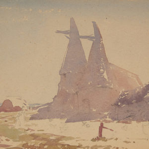 "A.C. Leighton ""Hop Oasts"" Watercolour, N.D."