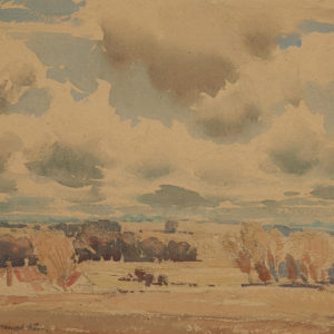 "A.C. Leighton ""Landscape"" Watercolour, N.D."
