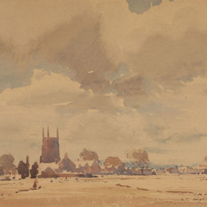 "A.C. Leighton ""Lydd Kent"" Watercolour, N.D."