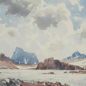 "A.C. Leighton ""Molar Pass"" Watercolour, N.D."