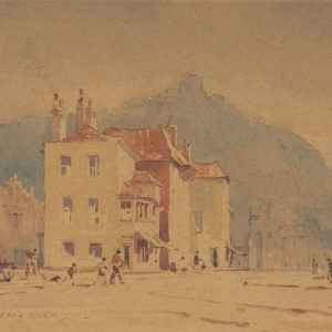 "A.C. Leighton ""Near Fish Market, Hastings"" Watercolour, N.D."