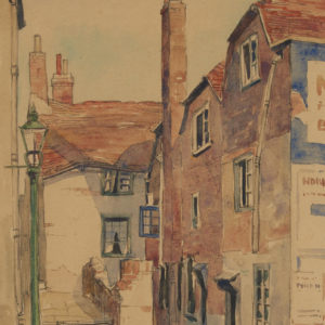 "A.C. Leighton ""North Street Bates Alley"" Watercolour, N.D."