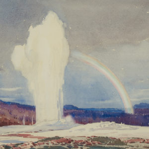 "A.C. Leighton ""Old Faithful"" Watercolour, N.D."
