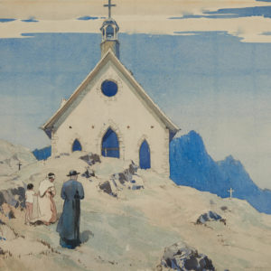 "A.C. Leighton ""Old Indian Church, Duncan, BC"" Watercolour, N.D."