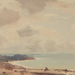 "A.C. Leighton ""Sea Scape"" Watercolour, N.D."
