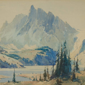 "A.C. Leighton ""Sketch Rockies"" Watercolour, N.D."