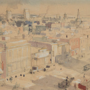 "A.C. Leighton ""Sketch for City Buildings"" Watercolour, N.D."