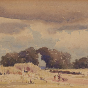 "A.C. Leighton ""Sunday Afternoon"" Watercolour, N.D."