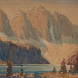 "A.C. Leighton ""Taylor Lake"" Watercolour, N.D."