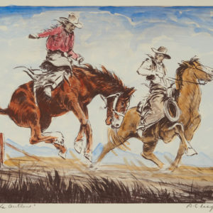 "A.C. Leighton ""The Outlaw"" Watercolour, N.D."