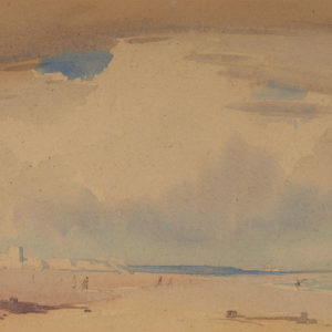 "A.C. Leighton ""The Seaside"" Watercolour, N.D."