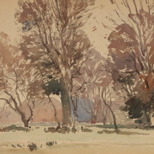 "A.C. Leighton ""Tree Study"" Watercolour, N.D."