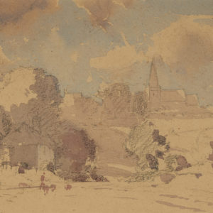 "A.C. Leighton ""Untitled English House"" Watercolour, N.D."
