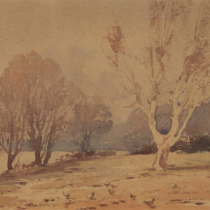 "A.C. Leighton ""The Walnut Tree"" Watercolour, N.D."