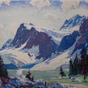 "Barleigh ""Bow Lake"" Wood Block Print, N.D."