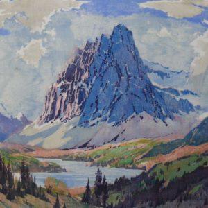 """Barleigh """"Castle Mountain"""" Block Print, N.D."""