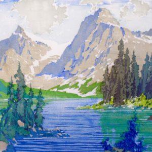 "Barleigh ""Emerald Lake"" Blockprint, N.D."