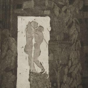 """Barbara Leighton """"Untitled"""" Etching, N.D."""