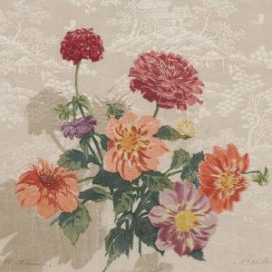 "Barleigh ""Fall Flowers"" Block Print, N.D."