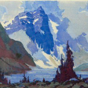 """Barleigh """"Mt Fay"""" Block Print, N.D."""