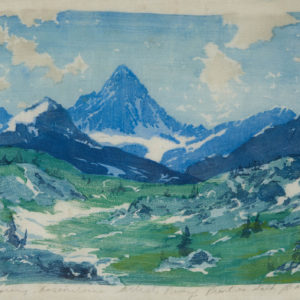 "Barleigh ""Spring, Assiniboine, Artist Proof"" Print on Silk, N.D."