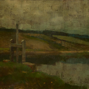 "E. Leslie Badham ""Untitled"" Oil, 1917"
