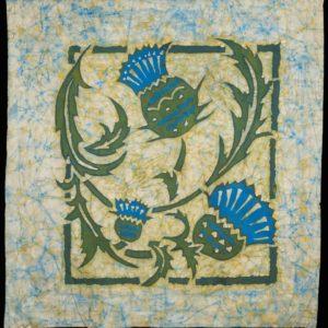 """Barbara Leighton """"Untitled Batik"""" Textile, N.D."""